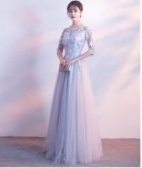 c87bd387b2d83 ロングドレス シンプルドレスAライン パーティードレス 安い ウエディングドレス 二次会 花嫁 披露宴 ブライダル 結婚