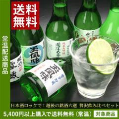 敬老の日 ギフト プレゼント  日本酒 送料無料 越後の銘酒六選 贅沢飲み比べセット ギフト プレゼント(ln)あす着