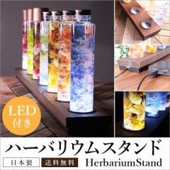 【ハーバリウムスタンド 30cm LED照明付き 天然木SPF材 】 LEDインテリア 幅30cmX奥行9cm ボトル型4.5cm対応
