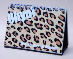 2018年版卓上カレンダー 『Uhyo!』 〜ヒョウ柄のアニマルプリント暦〜 【2個までメール便OK!】