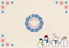 ペーパー・ランチョンマット『クリスマス スノーマン』 10枚入 (B4版)  LUN-453