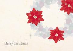 ペーパー・ランチョンマット『クリスマス リース』 10枚入 (B4版)  LUN-458