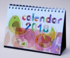 2018年版卓上カレンダー 『flower × Bird』 〜草花と鳥をモチーフに〜 【2個までメール便OK!】