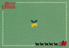 ペーパー・ランチョンマット『クリスマス サンタE』 10枚入 (B4版)  LUN-456