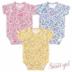 *スウィートガール*小花柄半袖ロンパース[ベビー服][赤ちゃん][ベビー][ロンパース][女の子]【60cm70cm】