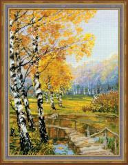 RIOLISクロスステッチ刺繍キット No.1134 「The Birches」 (樺の並木)