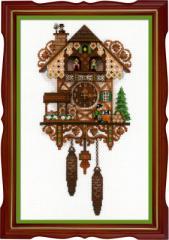 RIOLISクロスステッチ刺繍キット No.1730 「Cuckoo Сlock」 (鳩時計) 【海外取り寄せ/納期30〜60日程度】