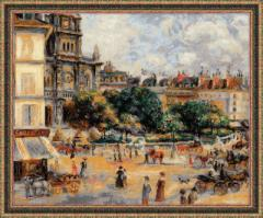 RIOLISクロスステッチ刺繍キット No.1396 「Square of the Trinity. Paris」 after Pierre-August Renoirs painting  (パリ・トリニティ