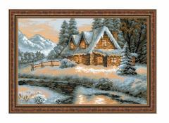 RIOLISクロスステッチ刺繍キット No.1080 「Winter View」 (冬の風景)
