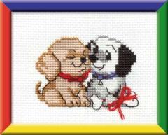 RIOLISクロスステッチ刺繍キット HB060 「Congratulations!」 (犬 )