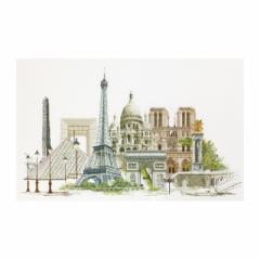 Thea Gouverneur クロスステッチ刺繍キットNo.472  「Paris」(パリ フランス) 【海外取り寄せ/納期40〜80日程度】