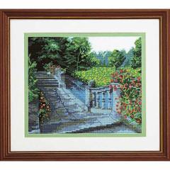 Olympusクロスステッチ刺繍キット 7016 「水辺の庭園」