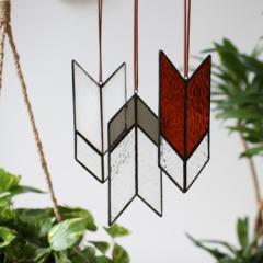 "DETAIL Chimayo Stained Glass""Chevron ornament small"" チマヨステンドグラス ""シェブロンオーナメントスモール"""