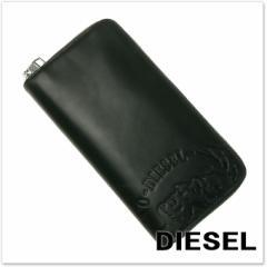 【セール 35%OFF!】DIESEL ディーゼル メンズラウンドファスナー長財布(小銭入れ付き) 24 ZIP / X04762 PR160 ブラック