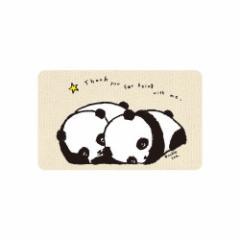 ICカードステッカー Fun ic card sticker IC75 パンダ双子 アニマル かわいい 保護 シール アオトクリエイティブ