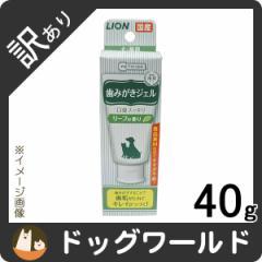 【訳あり品】 ライオン ペットキッス 歯みがきジェル リーフの香り 40g 【PETKISS】  [賞味:2020/6/30]