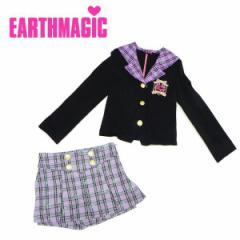EARTHMAGIC アースマジック 子供服 18春 チェック柄ストレッチポンチフォーマルセットアップ ea38129161