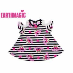 EARTHMAGIC アースマジック 子供服 18春 ボーダーマフィー柄Aラインチュニック  ea38141284