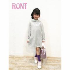 RONI ロニィ ロニー 子供服 18春 ミニ裏毛フード付きワンピース r1381092301220