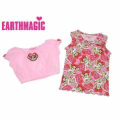 EARTHMAGIC アースマジック 子供服 18初秋 ラブレターマフィー総柄セットアップ ea38359121