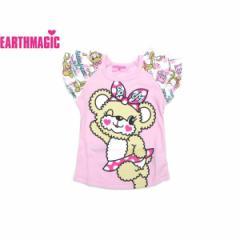 EARTHMAGIC アースマジック 子供服 18夏 ドットマフィ—総柄切替Tシャツ ea38241569