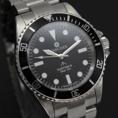 限定品!WANCHER「Deep Sea(ディープシ−)」機械式自動巻き軍用ダイバーウォッチ /腕時計 100M防水 逆回転ベゼル採用