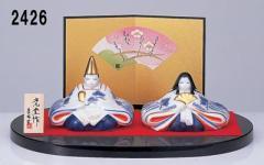 ★ひな祭り★陶製の雛人形【染錦 睦雛】 お孫さん、娘さんのプレゼントに