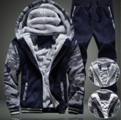 限定100枚 セール メンズ上下セットアップスウェット  裏起毛ベロアパーカージャケット 厚手/防寒ルームウェア