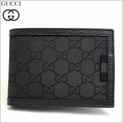 あす着 グッチ GUCCI 財布 二つ折り財布 ウェビング GGナイロン レザー 本革 ウォレット ブラック メンズ ブランド 292534-g1xwn-8615