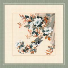 RIOLISクロスステッチ刺繍キット No.1573 「Majestic Song」 (マジェスティック ソング 花鳥) 【取り寄せ/納期1〜2ヶ月】