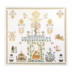 Thea Gouverneur クロスステッチ刺繍キット No.1082 「Sampler」(サンプラー)  オランダ テア・グーヴェルヌール 【取り寄せ/納期40〜80