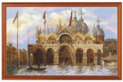 RIOLISクロスステッチ刺繍キット No.1127 「Venice, St.Marks Square」 (ベニス サンマルコ広場 ヴェニス イタリア)