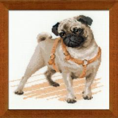 RIOLISクロスステッチ刺繍キット No.1176 「Pug Dog」 (パグ 犬) 【海外取り寄せ/納期30〜60日】