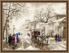 RIOLISクロスステッチ刺繍キット No.1400 「Old Street」 (旧市街)
