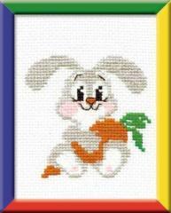 RIOLISクロスステッチ刺繍キット HB051 「Lop-eared Bunny」 (耳の垂れたウサギ)