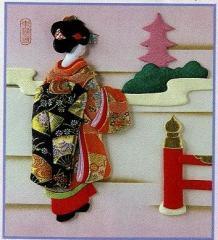 東芸押し絵キット K8889 「京の春」 押絵キット 【取り寄せ/通常納期1〜2週間】