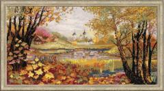 RIOLISクロスステッチ刺繍キット No.1233 「Autumn Time」 (秋)