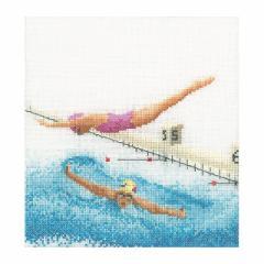 Thea Gouverneur クロスステッチ刺繍キットNo.3036 「Swimming」(水泳 競泳 スイミング スポーツ) 【取り寄せ/納期40〜80日程度】