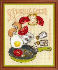 RIOLISクロスステッチ刺繍キット No.1684 「Breakfast」 (朝食) 【海外取り寄せ/納期1〜2ヶ月】