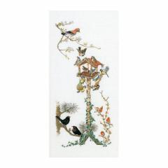 Thea Gouverneur クロスステッチ刺繍キット No.1065 「Bird Table」(野鳥のえさ台) オランダ テア・グーヴェルヌール 【取り寄せ/納期40