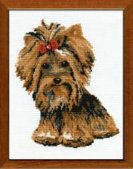 RIOLISクロスステッチ刺繍キット No.825 「The Yorkshire Terrier」 (ヨークシャー テリア 犬) 【海外取り寄せ/納期30〜60日程度】