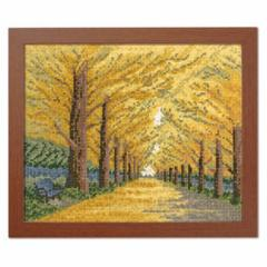 Olympusクロスステッチ刺繍キット 7493 「黄金色の散歩道」 オノエ・メグミ ししゅうキットシリーズ 木々の彩り