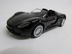 サウンド・ライト・ダイキャストミニカー ポルシェ 918 スパイダー 1/32 ブラック