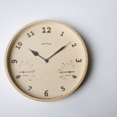 Lemnos レムノス BAUM[温湿度計付]/(PC08-09)NT ナチュラル 掛け時計 デザイナーズ 北欧 インテリア