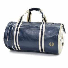 【6%OFF!】FRED PERRY フレッドペリー メンズバレルボストンバッグ L3330 / CLASSIC BARREL BAG ネイビー /定番人気商品