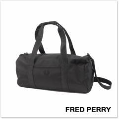 【セール 20%OFF!】FRED PERRY フレッドペリー メンズバレル ボストンバッグ L3214 / TONAL TRACK BARREL ブラック