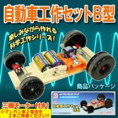 自動車工作セットB(3極モーター付)自作モーターで走るクルマが作れる理科実験キット