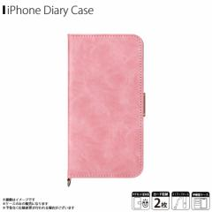 iPhone XS Max 手帳型ケース PG-18ZFP03PK【6725】 Premium Style カード収納 フィンガーストラップ付 ダメージ加工 ピンク PGA