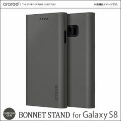 Galaxy S8 SC-02J SCV36 手帳型ケース AR9699S8【6993】スリム レザーケース カード収納 チャコールグレイ ロア・インターナショナル