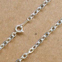 SV925 シルバー ネックレス つぶし 小判 小豆チェーン SS280SF 50cm 1本